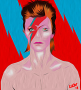 Rock Star Art Art - Bowie by Glenn Cotler