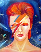 The Dude Painting Posters - Bowies Dream Poster by To-Tam Gerwe