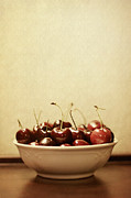 Juicy Posters - Bowl o Cherries  Poster by Trish Mistric