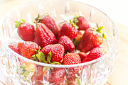 Juicy Strawberries Metal Prints - Bowl of Berries Metal Print by April Reppucci