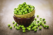 Vegetarian Metal Prints - Bowl of peas Metal Print by Elena Elisseeva