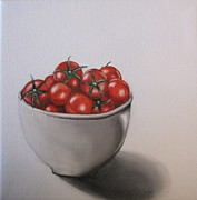 Vegetables Originals - Bowl of Tomatoes by Laurie Dellaccio