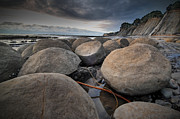 Point Arena Prints - Bowling Ball Beach 4 Print by Ron Schwager