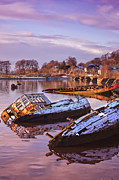 Wooden Ship Prints - Bowling Harbour 03 Print by Antony McAulay