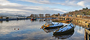 Wooden Ship Prints - Bowling Harbour Panorama 01 Print by Antony McAulay