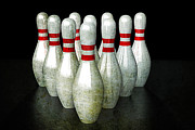 Bowling Pins Print by Anthony Ross