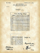 Bowls Digital Art Framed Prints - Bowling Score Sheet Patent Framed Print by Stephen Younts