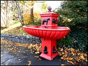 Fountain Digital Art Photos - Bowring Park Horse Trough  by Zinvolle Art