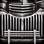 Chevy Pickup Photo Prints - Bowtie Lines Print by Ken Smith