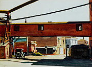 Signed Painting Prints - Box Factory Print by Edward Hopper