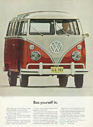 Hippie Van Posters - Box Yourself In Poster by Nomad Art And  Design
