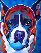 Boxer Puppy Painting Framed Prints - Boxer - Atticus Framed Print by Alicia VanNoy Call