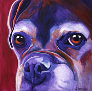 Boxer Portrait Paintings - Boxer - Wallace by Alicia VanNoy Call