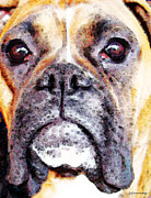 Boxer Digital Art Metal Prints - Boxer Art - Im Still A Good Girl				 Metal Print by Sharon Cummings