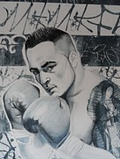 Boxer Mixed Media Originals - Boxer by Carmine Santaniello