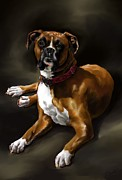 Boxer Digital Art Prints - Boxer Print by Cassandra Gallant