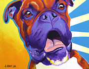 Boxer Portrait Paintings - Boxer - Chance by Alicia VanNoy Call
