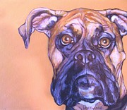 Boxer Painting Prints - Boxer Print by Christina Hoffman