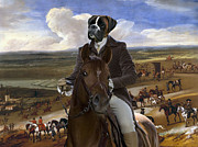 Boxer Painting Prints - Boxer Dog Art - The Warren Hill at Newmarket Print by Sandra Sij