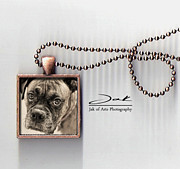 Pet Jewelry - Boxer Dog Handcrafted Photo Jewelry by Jak of Arts Photography