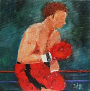 Boxer Painting Prints - Boxer Print by Irit Bourla