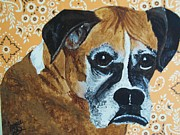 Boxer Painting Prints - Boxer Love Print by Janice W Deetscreek