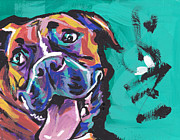 Boxer Painting Framed Prints - Boxer Luv Framed Print by Lea