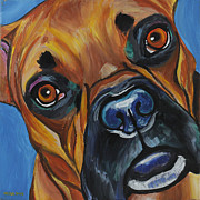 Boxer Dog Paintings - Boxer by Melissa Smith