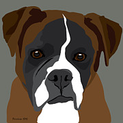 Boxer Digital Art Prints - Boxer Print by Michael Ferreira