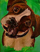 Brindle Painting Prints - Boxer Puppy Print by Lee Walker