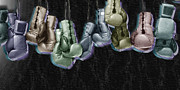 Icon Mixed Media Originals - Boxing Gloves by Tony Rubino