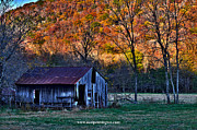 Boxley Valley Prints - Boxley Valley Barn Print by Noel Pennington