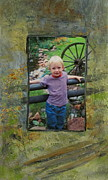 Photo Mixed Media - Boy by Fence by Anita Burgermeister