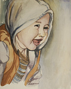 Hoodie Painting Framed Prints - Boy Framed Print by Cassidy Young
