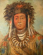 Western Western Art Prints - Boy Chief Ojibbeway Print by George Catlin