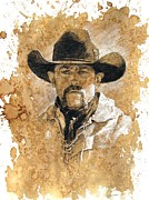 Old West Drawings - Boy by Debra Jones