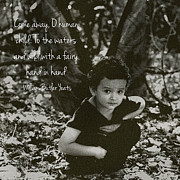 Angela Castillo Art - Boy Fairy and Quote by Cherie Haines