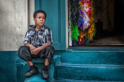 Brenda Bryant Photography Metal Prints - Boy on Bourbon Metal Print by Brenda Bryant