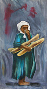 Arabia Originals - Boy With Bread During Sandstorm by Robert Holewinski