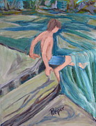 All - Boy with Foot in Falls by Betty Pieper