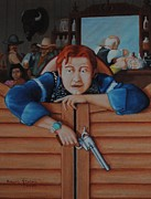 Bartender Paintings - Boy With Gun by Robert McIntosh