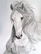 Animals Drawings - Boyardo by Janina  Suuronen