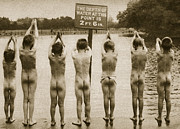 Boys Bathing In The Park Clapham Print by English Photographer