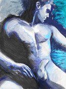 Homosexual Paintings - Boys Blues by Rene Capone