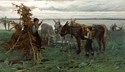 Famous Artists - Boys herding donkeys by Willem Maris