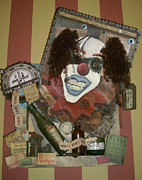 Creepy Mixed Media Originals - Bozorro by Erin Whalen
