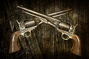 Revolvers Photos - Brace of Colt Navy Revolvers by Randall Nyhof