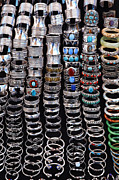 Jewellery Prints - Bracelets at Anjuna Market Print by Robert Preston