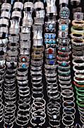 Bracelets At Anjuna Market Print by Robert Preston