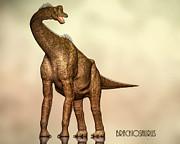 Brachiosaurus Dinosaur Print by Bob Orsillo